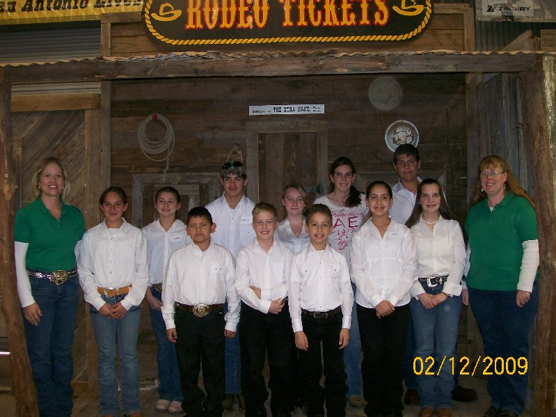 Atascosa Co. 4H Horse Judging Teams San Antonio Stock Show 2009